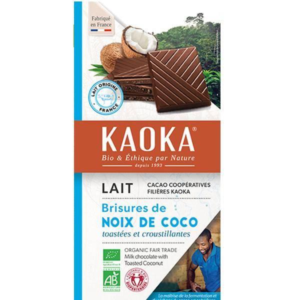 Bilde av Kaoka melkesjokolade med ristet kokos 100 gr