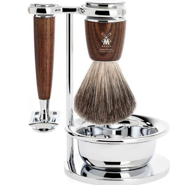 Bilde av Mühle Vivo Pure Badger barbersett 4 deler Ask *2 igjen*